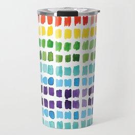 Rainbow Brushstrokes Travel Mug