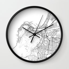 Cape Town Map White Wall Clock