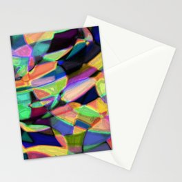 Drinkin Whiskey and Rye: Colorful Digital Abstract Design Stationery Cards