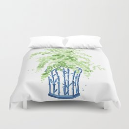 Ginger Jar + Maidenhair Fern Duvet Cover