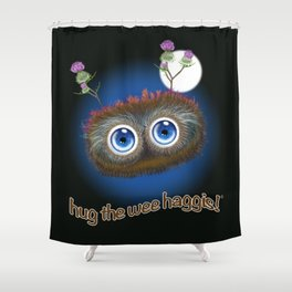 Wee Haggis by Night Shower Curtain