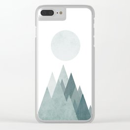 Mid Century Scandinavian Mountain Clear iPhone Case