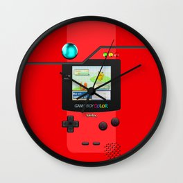 Gameboy Color Pokedex Wall Clock