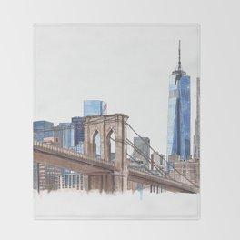 Brooklyn Bridge Throw Blanket