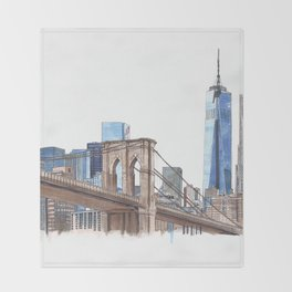 Brooklyn Bridge Throw Blanket