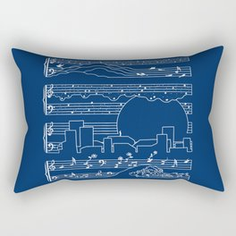 The Moonlight Sonata Blue Rectangular Pillow