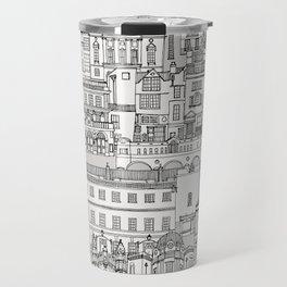 Bath toile black silver Travel Mug