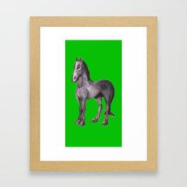 Noble Steed (green) Framed Art Print
