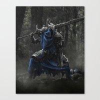 dark souls Canvas Prints featuring Artorias (Dark Souls fanart) by Artur Jag