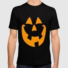 Pumpkin Face Mens Fitted Tee MEDIUM Black
