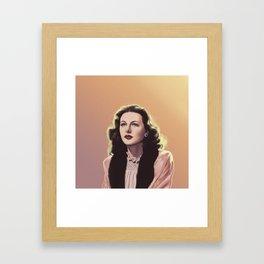 inventor-turned-actress Framed Art Print