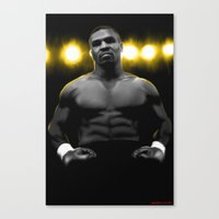 mike tyson Canvas Prints featuring IRON MIKE TYSON by smARTwork Designs