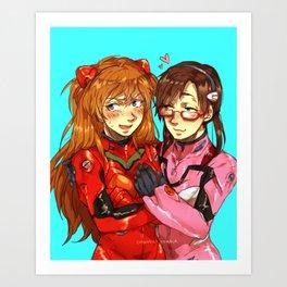 Ms. Mari! Ms. Asuka! Art Print