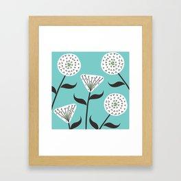 Large Print Dandelion Seeds Spring Summer Pattern Framed Art Print