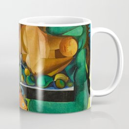 Reclining Nude with Fish and Fruit portrait by Emiliano di Cavalcanti Coffee Mug