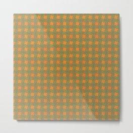 Orange green pattern Metal Print