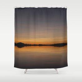 Sunset Salar de Uyuni 7 - Bolivia - Landscape and Rural Art Photography Shower Curtain