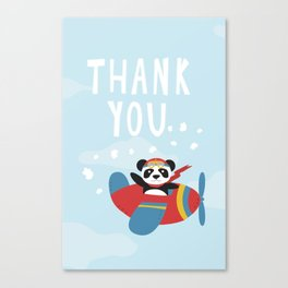 Panda says Thanks! Canvas Print