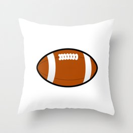 Baltimore Maryland American Football Design white font Throw Pillow