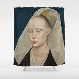 Portrait of a Lady by Rogier van der Weyden Shower Curtain