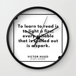 17    Victor Hugo Quotes   190830 Wall Clock