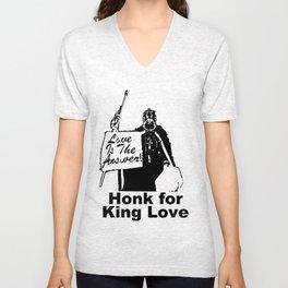 Honk for King Love Unisex V-Neck