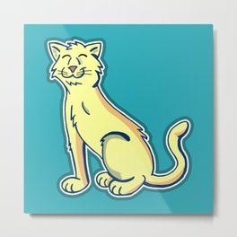 Tripod Cat Metal Print
