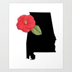 Alabama Silhouette Art Print