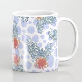 Soft Australian Native Floral Pattern Coffee Mug