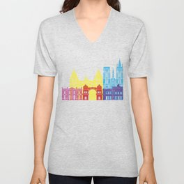 Cordoba AR skyline pop Unisex V-Neck