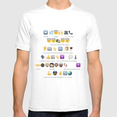 Emoji Baptism MEDIUM White Mens Fitted Tee