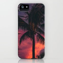 Palmtree Sunset iPhone Case