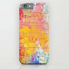 SUN SHOWERS - Beautiful Pastel Coloful Rain Clouds Bright Sky Abstract Acrylic Painting Slim Case iPhone 6s