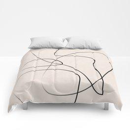 Abstract Line I Comforters