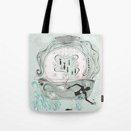 Mermaid in a bathtub. Tote Bag