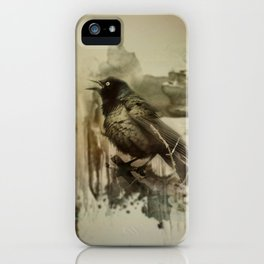 Call Of The Grackle iPhone Case