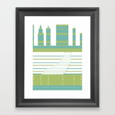 Layered Town Framed Art Print