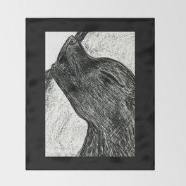 Little Wolfie Throw Blanket