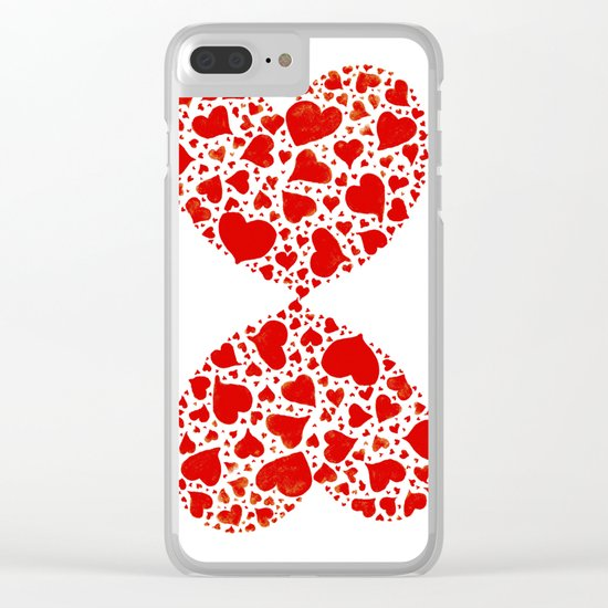 So many hearts Clear iPhone Case