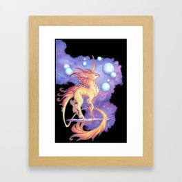 space unicorn Framed Art Print