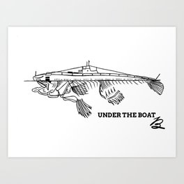 Under the boat Art Print