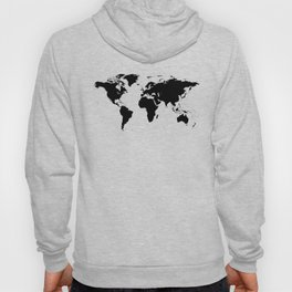 Black Ink World Map Hoody