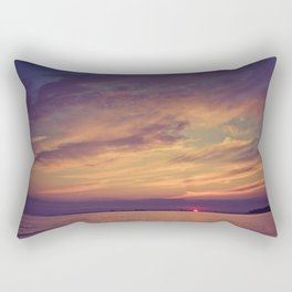 End of Day Over Biloxi Rectangular Pillow