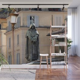 Giordano Bruno Monument, Rome, Italy Wall Mural