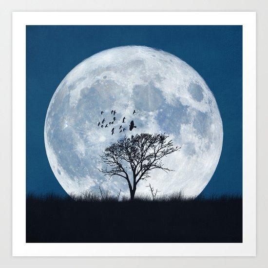 When the moon speaks (part IV) Art Print