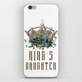 The King's Daughter Psalm 45 Floral Crown iPhone Skin