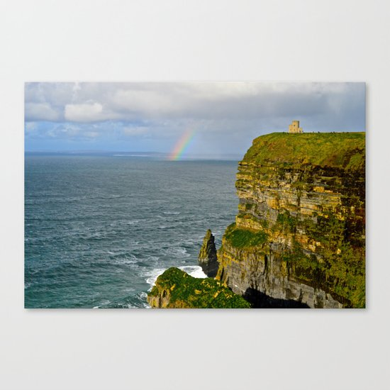 Cliffs of Moher Rainbow Canvas Print