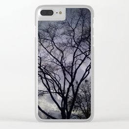 Haunted Sky and Trees Clear iPhone Case