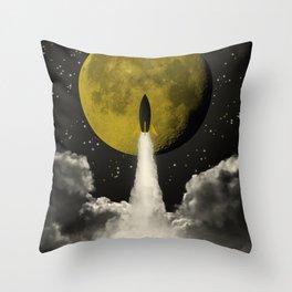 Start to the Moon Throw Pillow