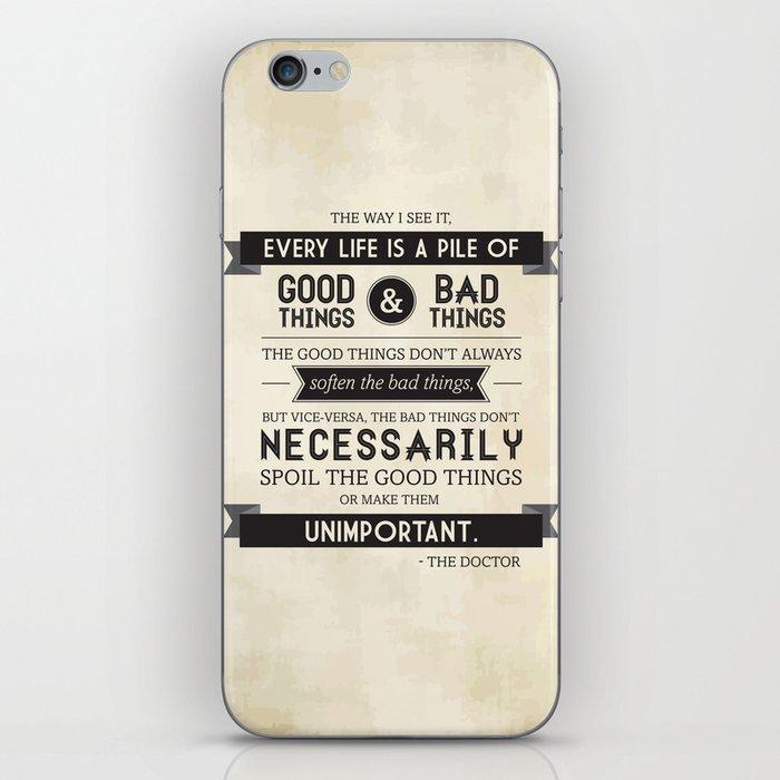Good Things & Bad Things iPhone Skin